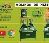 MOLINOS DE NIXTAMAL DE 1, 2 Y 3 TOLVAS ELECTRICOS O GASOLINA