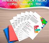 Impresiones de tesis y documentos importantes 24/7