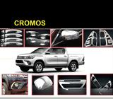 KITS DE CROMOS HILUX VIGO REVO FRONTIER NP300 L200 RAV4 SPORTERO OUTLANDER SPORT NISSAN ROGUE HIACE