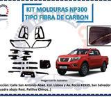 MOLDURAS NP300 TIPO FIBRA DE CARBON
