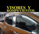 VISORES ROMPEVIENTOS HILUX REVO VIGO FRONTIER NP300 L200 SPORTERO 2008 2009 2010 2011 2012 2013 2014