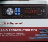 Radio Reproductor para automovil USB/SD/AUX