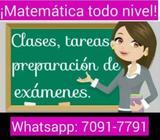 Tutora de matemática a domicilio (Sistema Nacional / Americano)