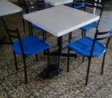 Mesas en Fibra de Vidrio