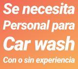 Se Necesita Personal para Car Wash