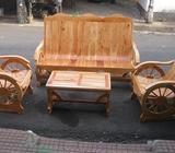 juegos de sala estilo carreta de madera de cedro y lo mejor transporte gratis