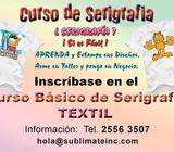 Curso básico serigrafía textil
