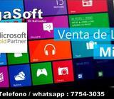 Licencias para windows y office . Somos distribuidores autorizados en la venta de productos de Micro
