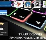 SERVICIOS DE TRADUCCIONES PROFESIONALES CERTIFICADAS y NOTARIZADAS