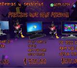 PC DE ESCRITORIO DE DIFERENTES MARCAS Y CARACTERISTICAS DESDE 295.00