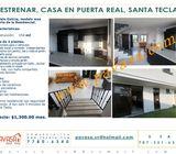 A Estrenar casa en alquiler en Res. Puerta Real, Santa Tecla.