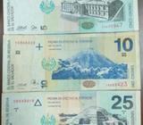 3 Billetes de El Salvador