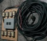 40 metros de Cable 220v #6 con caja y térmicos