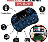 Mini Teclado Retroiluminado Inalambrico Touchpad Smartphone/Tablet/Smart Tv/Tv Box/Laptop/Pc/Consola