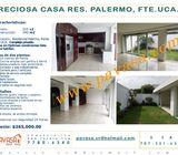 Casa Lista para habitar, en Res. Palermo frente a la UCA.