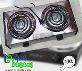 Cocina electrica de dos quemadores