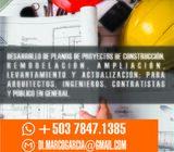 Servicios en Desarrollo de Planos