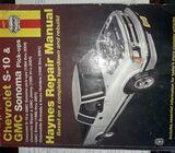 manual Haynes de reparación chevy S10 y GMC sonoma